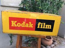 Vintage KODAK LARGE Cube DEALER DISPLAY Metal SIGN FOR KODAK FILM A-M 10 1966