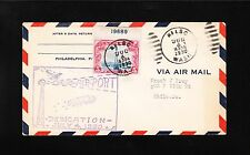 Airport Dedication Air Mail C11 EFO Plate Single 19689 Kelso WA 1930 Cover z7