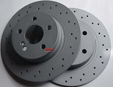 Fits C300 C250 Cross Drilled Rotors Made In Germany Rear Pair