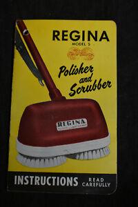 *VINTAGE* Regina Model S, Polisher & Scrubber Guide