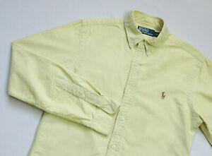 Ralph Lauren Oxford Casual shirt mens Long Sleeve top size S Small yellow