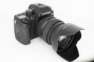 Contax N1 35mm SLR Film Camera Body 24-85mm f3.5-4.5 Zeiss zoom lens case