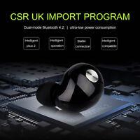 Mini Wireless Bluetooth 4.2 CSR Headphones Stereo Headset Mic Sports Earphones