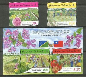 Iles Salomon 1998 - Mi SB967/68 BL52 - Cooperation Salomon Taiwan - Neuf MNH**