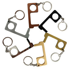 6Pcs of Clean Key Door Opener Handheld Brass EDC Keychain No Touch Hand Tool USA