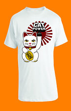 CAT POWER UNISEX T-SHIRT-  WHITE - LARGE - BRAND NEW
