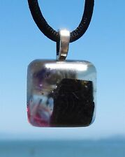 Healing Positive Energy Orgone Pendant with Red Spiral.