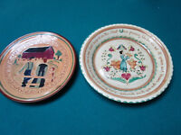 "PENNSBURY HANDCRAFTED POTTERY 2 PLATES 8"" AND 9"" [*3D]"