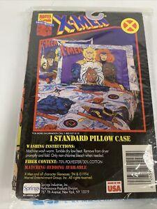 Vintage X-men 1994 Wolverine Cyclops Storm Gambit Beast Pillow Case RARE New
