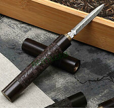 High Grade Ebony Damascus Steel Wimble Pu'er Tea Knife * Free Shipping
