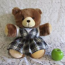Gerber TLC Vintage Bear Plush Plaid Dress Private School Uniform Stuffed Animal