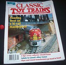 Classic Toy Trains 1996 January Lionel aquarium car 5 tips Blue Comet Transforme