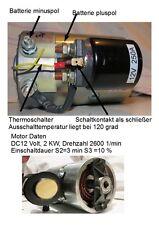 DC Motor  12 Volt 12 V. / 2 KW  + 12 Volt Starter
