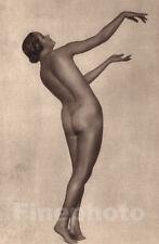 1925 Original FEMALE NUDE Modernist Art Deco Photo Gravure By TRUDE FLEISCHMANN