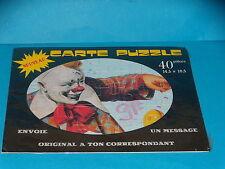 CARTE POSTALE PUZZLE - CIRQUE - CLOWN - NEUVE - ANNEES 1990