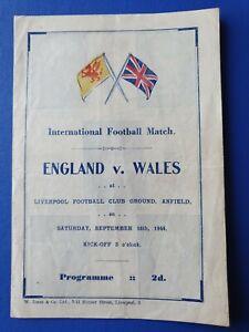 1944 - England 🏴 v Wales 🏴 programme @ Liverpool