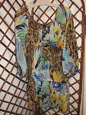 Ashley Stewart Womens sheer pullover Blouse 3/4 sleeve  sz 14/16         B4