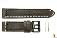 Luminox 1837 Field 23mm Brown Leather Watch Band Strap w/ Black Buckle