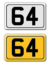 6 X 4 HOUSE NUMBER SIGN WHITE OR YELLOW