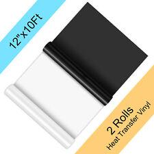 Htv Vinyl Bundle White Black Heat Transfer Iron On 12x20ft Diy T Shirt Cricut