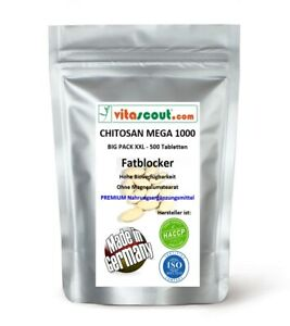 CHITOSAN - 500 Tabletten - MADE IN GERMANY - OHNE MAGNESIUMSTEARAT - no Kapseln