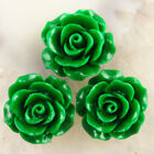 10pcs Carved Green Man-made Turquoise Flower Pendant Bead 20x20x9mm A-7JH