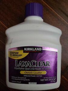Kirkland LaxaClear 50 Doses 29.9oz 850g (Polyethylene Glycol) compare to MIRALAX