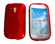 S-Line Shockproof Gel Case Protector Cover For Samsung Galaxy S3 Mini i8190 Red