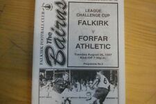 Scottish Cups Home Teams Written - on Football Programmes