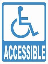 Handicapped Accessible Sign. Size Options. Business Equipped for Disabled