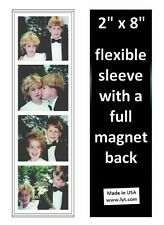 200 Magnetic Photo Booth Frames, 2x8 Full Magnet Back, white/black, free ship