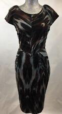 CALVIN KLEIN Women's Sz 10 Sheath Dress Sleeveless Knee Length Animal Print