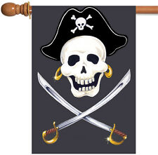 Toland Swashbuckle 28 x 40 Pirate Sword Skull Crossbones House Flag