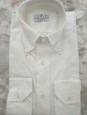 $475 Truzzi shirt  Alumo cotton  white button down