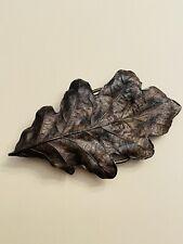 Vtg Leaf Leave Great Detailed Belt Buckle Bergmont Brass Works 1974