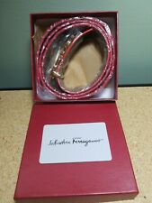 NWT Salvatore Ferragamo Reversible Red/Black Belt Gold Buckle