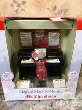 Mr. Christmas Magical Maestro Mouse Music Box Christmas Animated Musical Piano