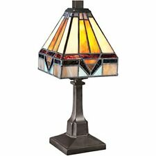 Quoizel TF1021TVB 1-Light Tiffany Table Lamp in Vintage Bronze
