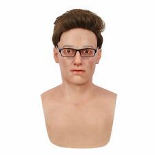 IMI Bell Realistic Handmade Silicone Young Man Face Headwear Crossdresser