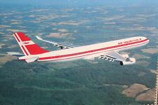 AK Airliner Postcard AIR MAURITIUS A340 airline issue