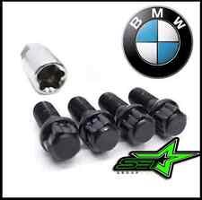 5pc 12x1.5 BMW BLACK STEEL WHEEL LUG BOLT LOCK SET WITH KEY   M3 M5 335 135