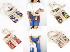 Handmade Hemp Bag with Embroidery Organic Fiber Eco-friendly Vegan Shoulder Bags