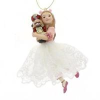 The Nutcracker Suite Clara Girl Holding Nutcracker Christmas Ornament Decoration
