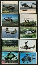 2000 Top Pilot Trading Cards Combat Helicopters Complete 10 Card Set Series 2