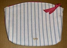Ipsy Stripe Blue White Clutch Makeup Cosmetic Travel Bag (Bag Only)