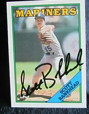 Scott Bankhead Seattle Mariners Topps 1988 # 738 Signed Baseball Card