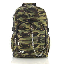 CAMO CAMOUFLAGE BACKPACK RUCKSACK Check Army Goth Skate School College CHOK Bag