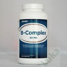 GNC B-Complex 50 mg (250 Capsules)-Essential for energy production & metabolism