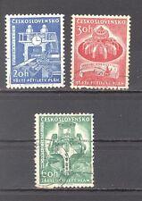 Tschechoslowakei, 1961, Mi. 1241-1243, 5-Jahresplan, Satz mit 3 Briefm., gest.