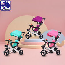 New 4 In 1 Kids Toddler Pram Stroller Flexible Reverse Trike Ride On Toy GMC0050